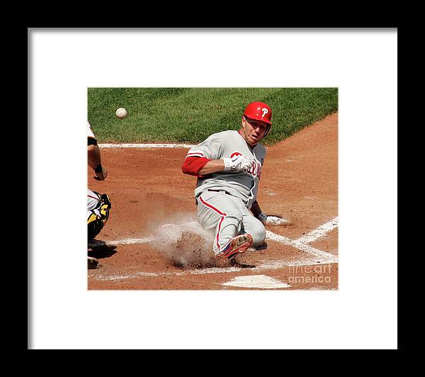 People Framed Print featuring the photograph Roy Halladay by Justin K. Aller