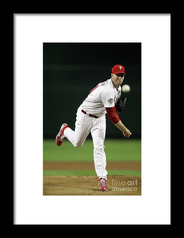 People Framed Print featuring the photograph Roy Halladay by Pool