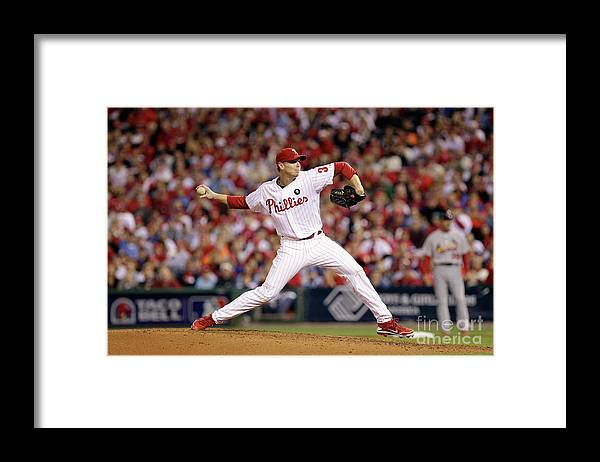 Citizens Bank Park Framed Print featuring the photograph Roy Halladay by Rob Carr