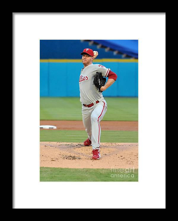 People Framed Print featuring the photograph Roy Halladay by Robert Vigon/florida Marlins