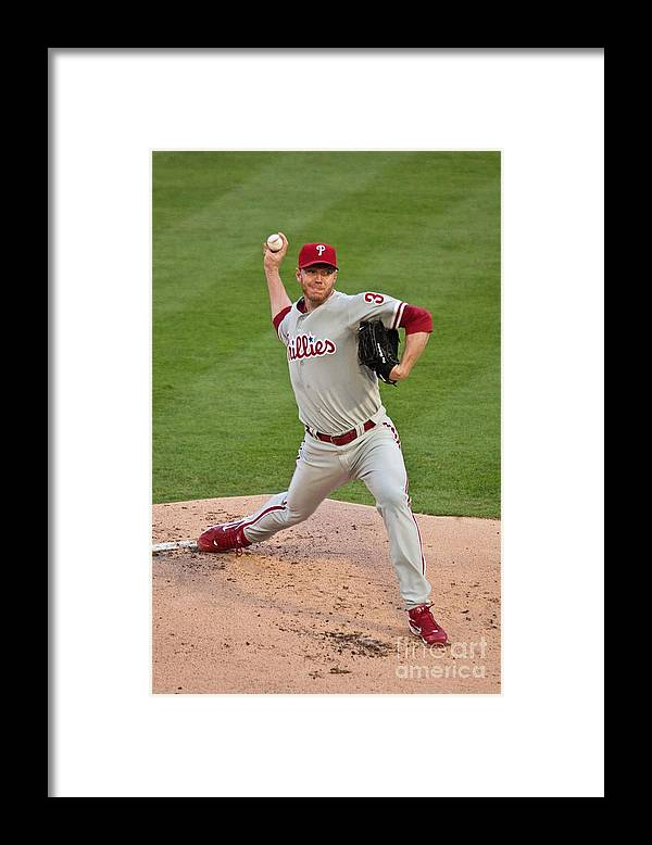 People Framed Print featuring the photograph Roy Halladay by Ronald C. Modra