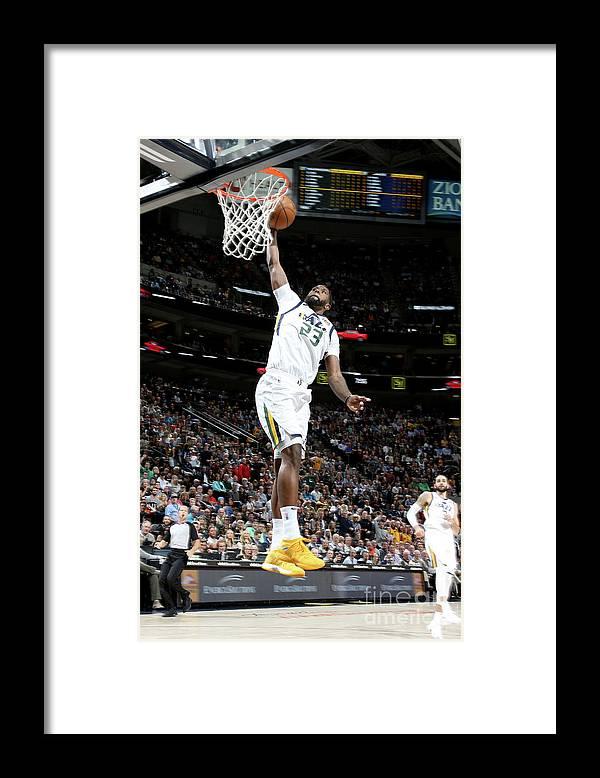 Nba Pro Basketball Framed Print featuring the photograph Royce O'neale by Melissa Majchrzak