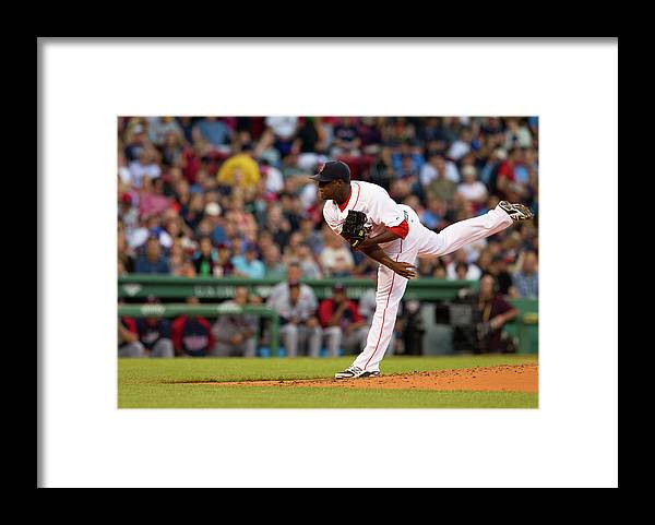 Second Inning Framed Print featuring the photograph Rubby De La Rosa by Rich Gagnon