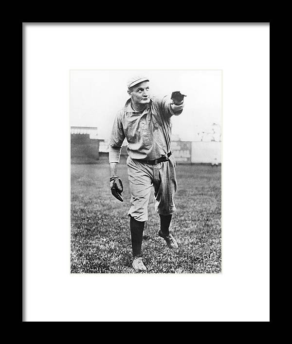 American League Baseball Framed Print featuring the photograph Rube Waddell by National Baseball Hall Of Fame Library
