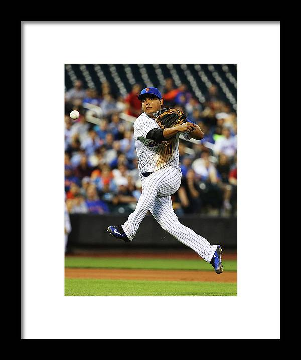 People Framed Print featuring the photograph Ruben Tejada by Al Bello