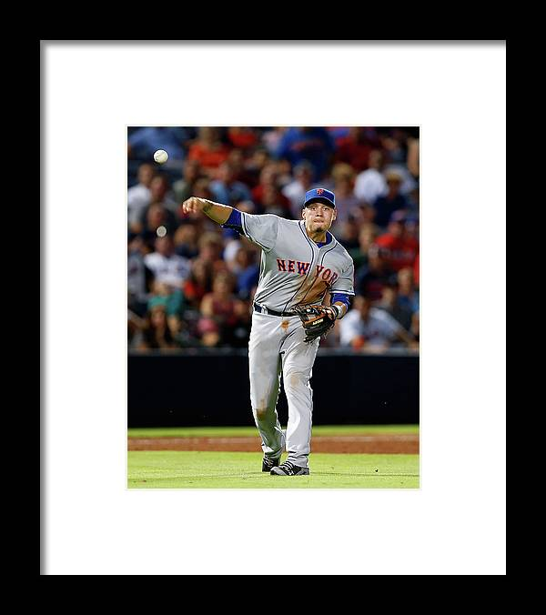 Atlanta Framed Print featuring the photograph Ruben Tejada and Wilmer Flores by Mike Zarrilli