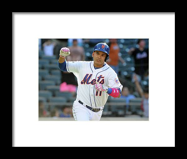 Residential District Framed Print featuring the photograph Ruben Tejada by Christopher Pasatieri