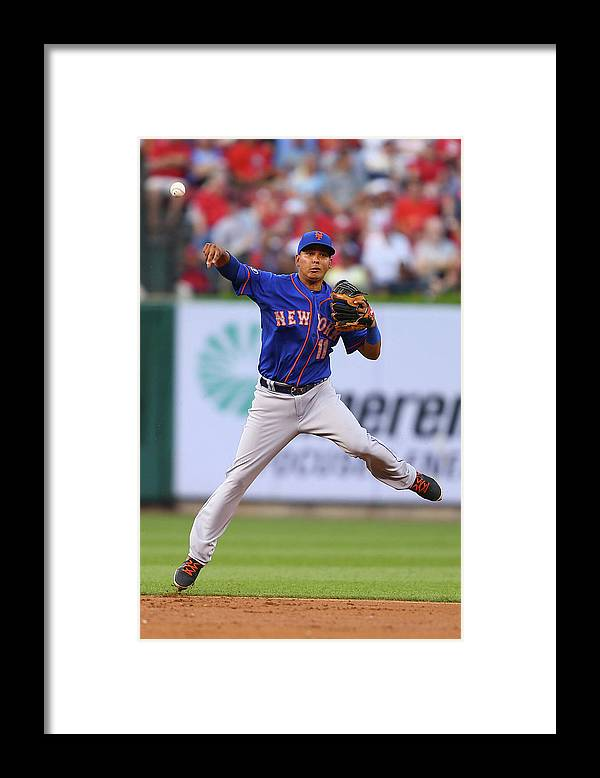Second Inning Framed Print featuring the photograph Ruben Tejada by Dilip Vishwanat