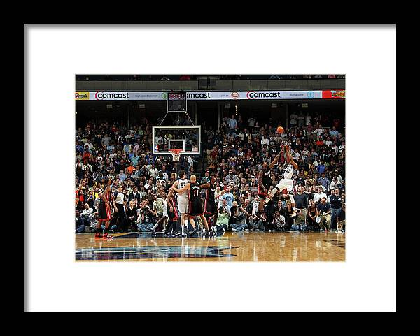 Nba Pro Basketball Framed Print featuring the photograph Rudy Gay and Lebron James by Joe Murphy