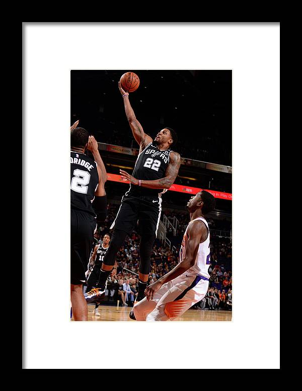 Nba Pro Basketball Framed Print featuring the photograph Rudy Gay by Barry Gossage