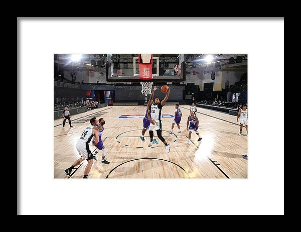 Nba Pro Basketball Framed Print featuring the photograph Rudy Gay by David Dow