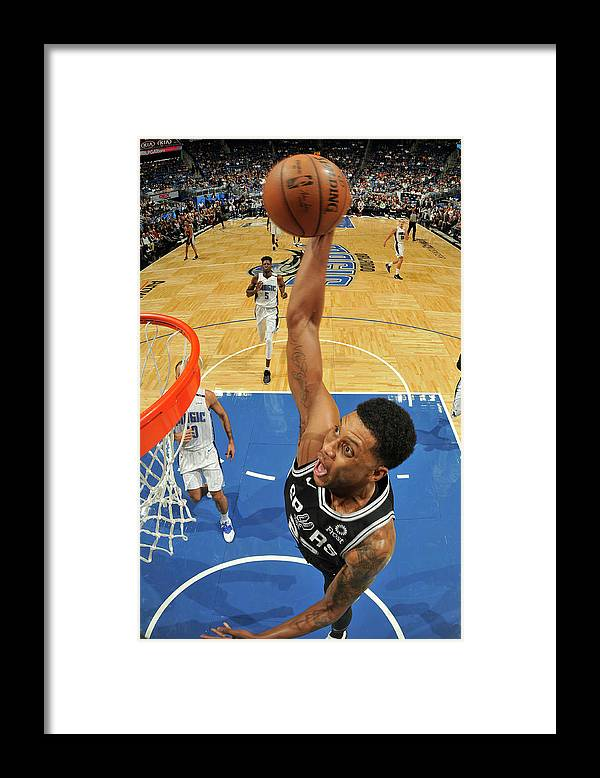 Nba Pro Basketball Framed Print featuring the photograph Rudy Gay by Fernando Medina
