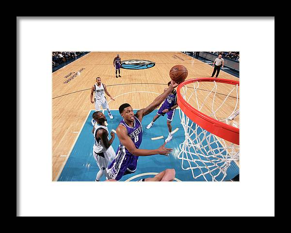 Nba Pro Basketball Framed Print featuring the photograph Rudy Gay by Glenn James