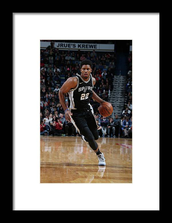 Smoothie King Center Framed Print featuring the photograph Rudy Gay by Layne Murdoch Jr.