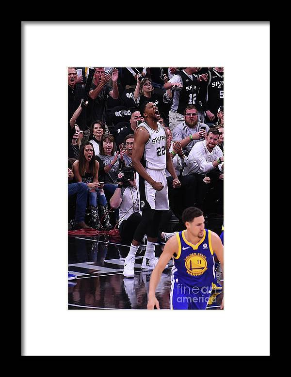 Playoffs Framed Print featuring the photograph Rudy Gay by Noah Graham