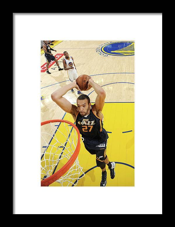 Playoffs Framed Print featuring the photograph Rudy Gobert by Andrew D. Bernstein