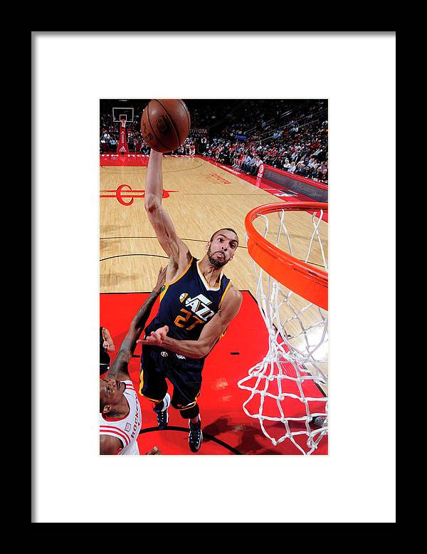 Nba Pro Basketball Framed Print featuring the photograph Rudy Gobert by Bill Baptist
