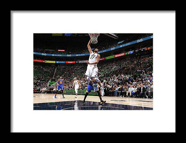 Nba Pro Basketball Framed Print featuring the photograph Rudy Gobert by Garrett Ellwood