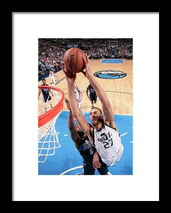 Nba Pro Basketball Framed Print featuring the photograph Rudy Gobert by Glenn James