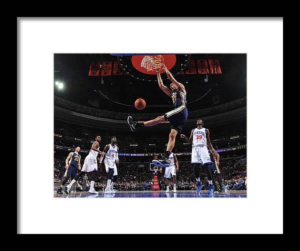Nba Pro Basketball Framed Print featuring the photograph Rudy Gobert by Jesse D. Garrabrant