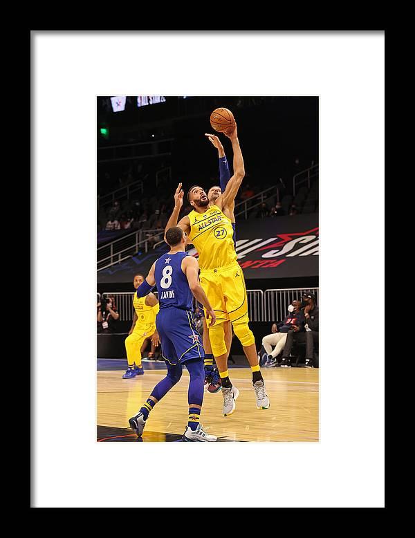 Atlanta Framed Print featuring the photograph Rudy Gobert by Joe Murphy