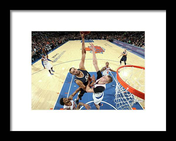 Nba Pro Basketball Framed Print featuring the photograph Rudy Gobert by Nathaniel S. Butler