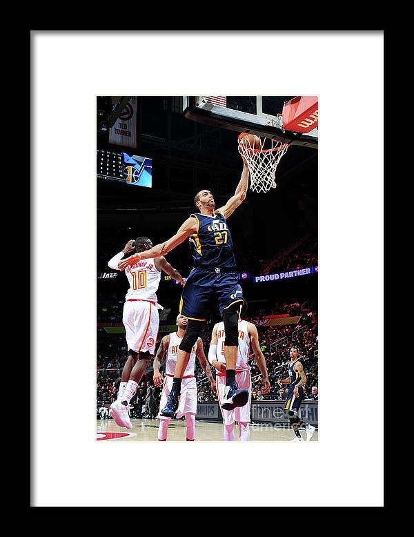 Atlanta Framed Print featuring the photograph Rudy Gobert by Scott Cunningham