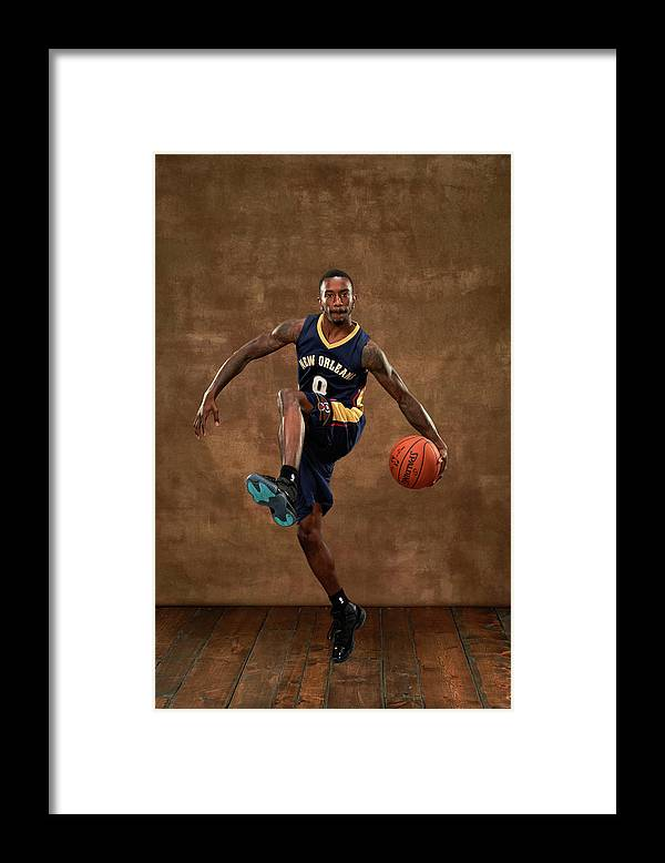 Nba Pro Basketball Framed Print featuring the photograph Russ Smith by Jennifer Pottheiser
