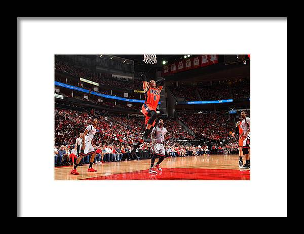 Nba Pro Basketball Framed Print featuring the photograph Russell Westbrook and James Harden by Jesse D. Garrabrant