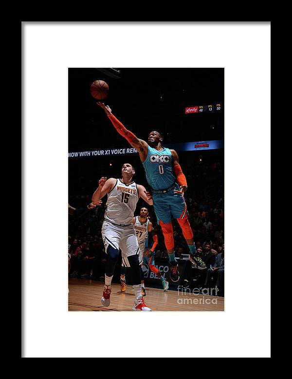 Nba Pro Basketball Framed Print featuring the photograph Russell Westbrook by Bart Young