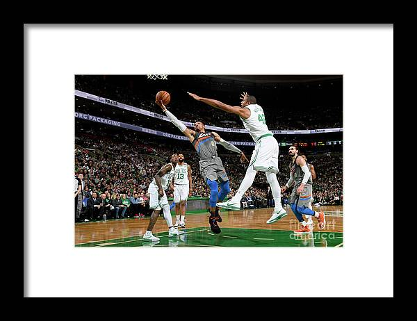 Nba Pro Basketball Framed Print featuring the photograph Russell Westbrook by Brian Babineau