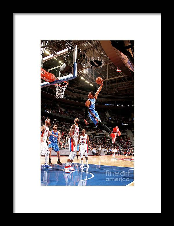 Nba Pro Basketball Framed Print featuring the photograph Russell Westbrook by Brian Sevald