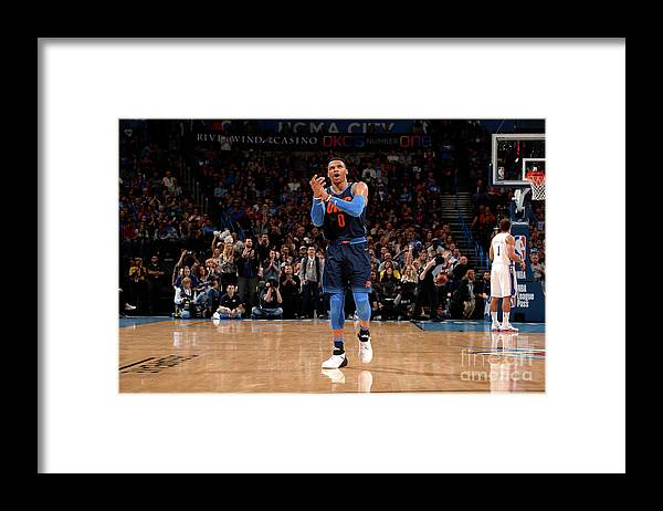 Nba Pro Basketball Framed Print featuring the photograph Russell Westbrook by David Dow