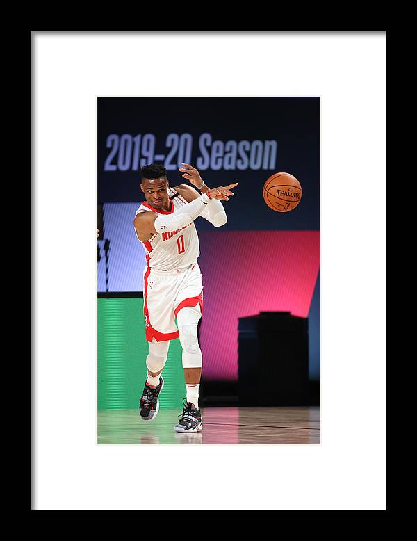 Nba Pro Basketball Framed Print featuring the photograph Russell Westbrook by David Sherman