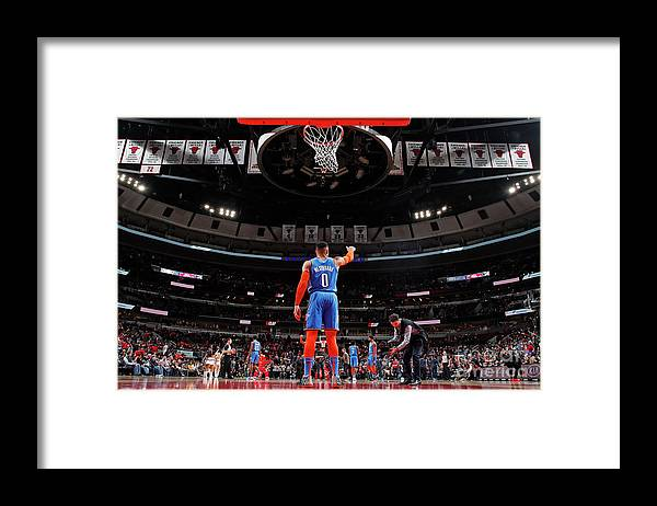 Nba Pro Basketball Framed Print featuring the photograph Russell Westbrook by Jeff Haynes