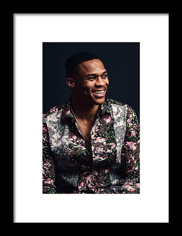 Event Framed Print featuring the photograph Russell Westbrook by Jennifer Pottheiser