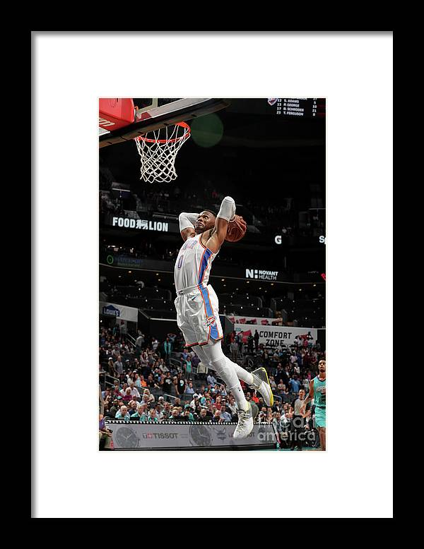 Nba Pro Basketball Framed Print featuring the photograph Russell Westbrook by Kent Smith
