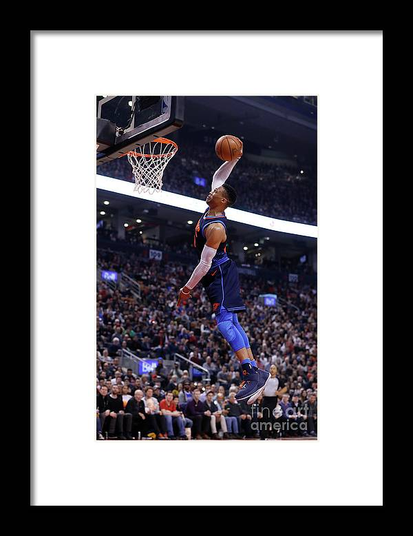 Nba Pro Basketball Framed Print featuring the photograph Russell Westbrook by Mark Blinch