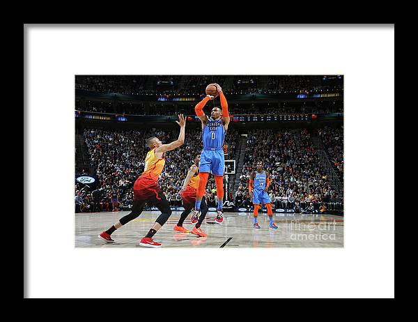Nba Pro Basketball Framed Print featuring the photograph Russell Westbrook by Melissa Majchrzak