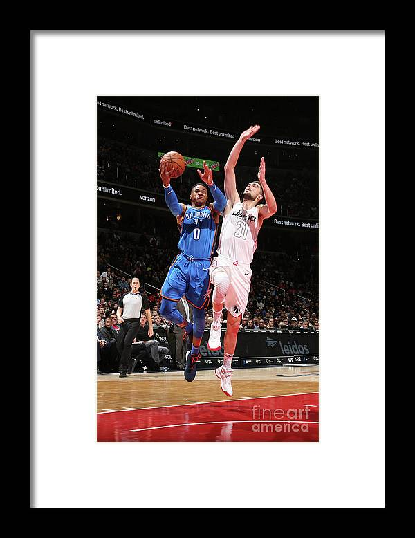 Nba Pro Basketball Framed Print featuring the photograph Russell Westbrook by Ned Dishman