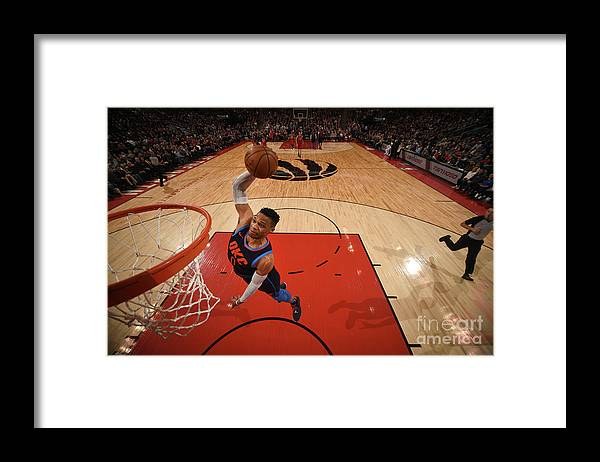 Nba Pro Basketball Framed Print featuring the photograph Russell Westbrook by Ron Turenne