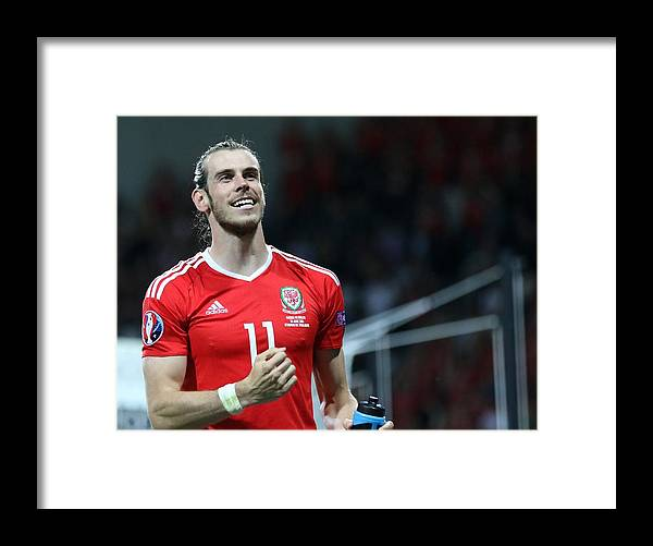 International Match Framed Print featuring the photograph Russia v Wales - EURO 2016 by Anadolu Agency