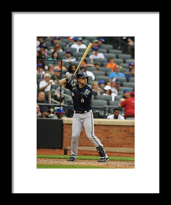 People Framed Print featuring the photograph Ryan Braun by Al Bello