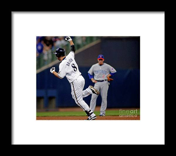 Celebration Framed Print featuring the photograph Ryan Braun by Darren Hauck