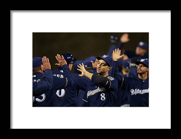 Citizens Bank Park Framed Print featuring the photograph Ryan Braun by Drew Hallowell