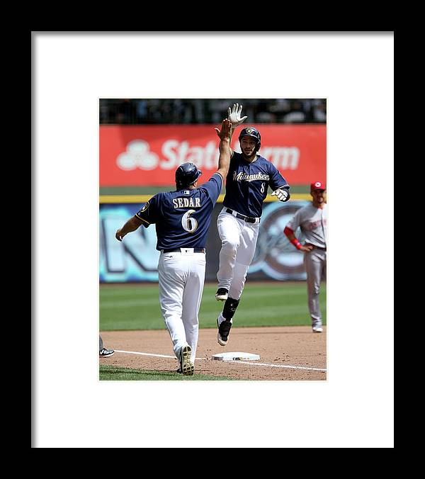 Second Inning Framed Print featuring the photograph Ryan Braun by Dylan Buell