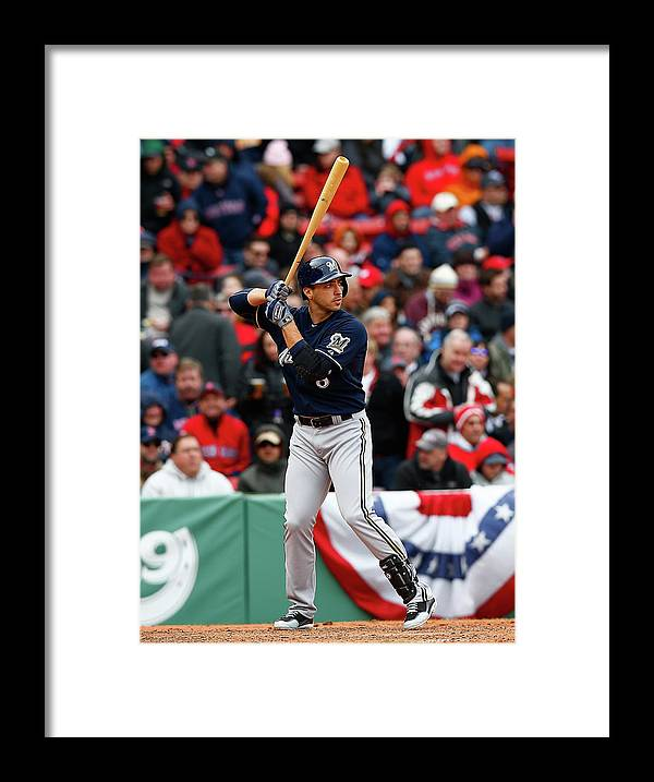 American League Baseball Framed Print featuring the photograph Ryan Braun by Jared Wickerham