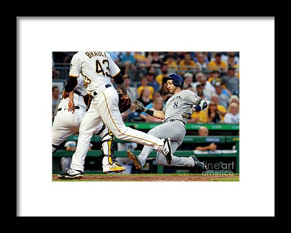 People Framed Print featuring the photograph Ryan Braun by Justin K. Aller