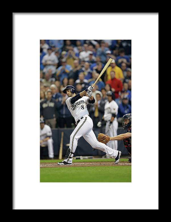 Home Base Framed Print featuring the photograph Ryan Braun by Mike Mcginnis