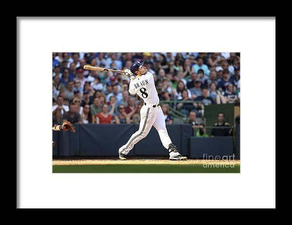 American League Baseball Framed Print featuring the photograph Ryan Braun by Mlb Photos